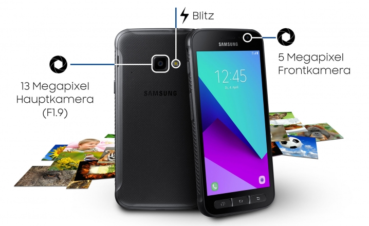 Kameras des Samsung Galaxy Xcover 4